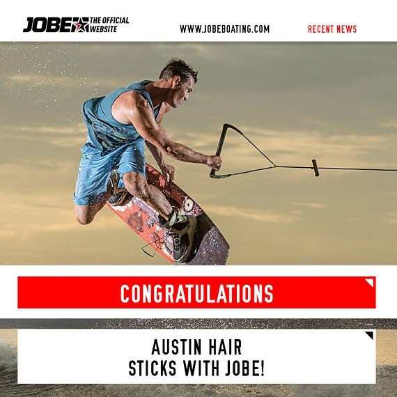 Austin Hair extends his contract with Jobe!