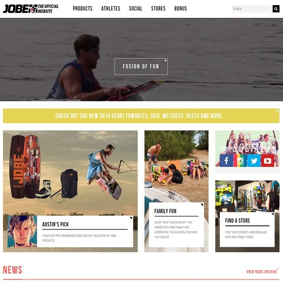 Brand new Jobe Boating website