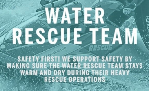 Cooperation between Jobe and the water rescue team