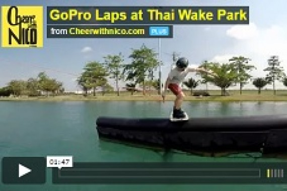 GoPro laps at thai wake park with Dominik Guehrs