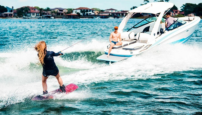How to wakeboard behind a boat