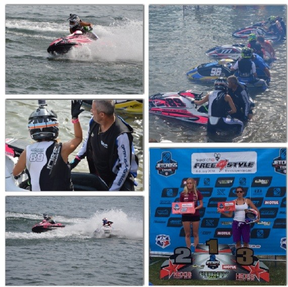 Jennifer Menard third place at Jetcross tour!