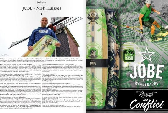 Jobe all over this month's Unleashed Wake Mag!