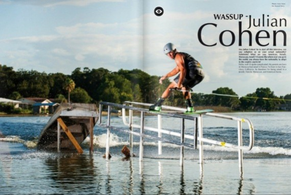 Jobe rider Julian Cohen in Unleashed wake mag