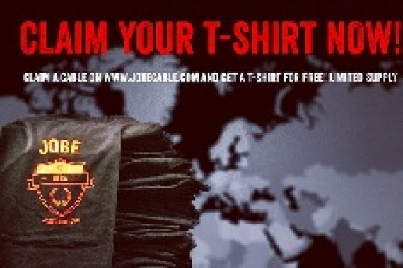 Last chance to claim a cable and get your Jobe warriors shirt!