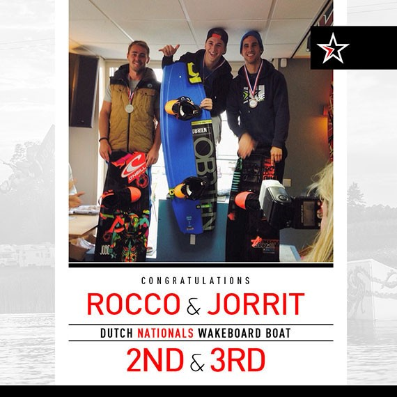 Rocco & Jorrit taking stage@ Dutch Nationals Wakeboard Boat!