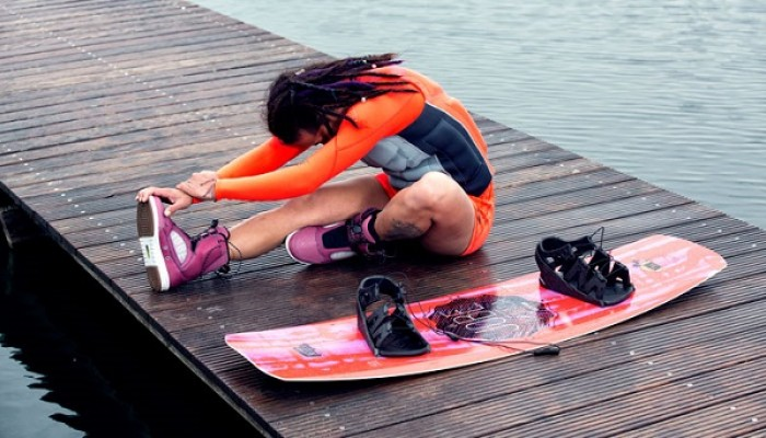 Stretch before you wakeboard