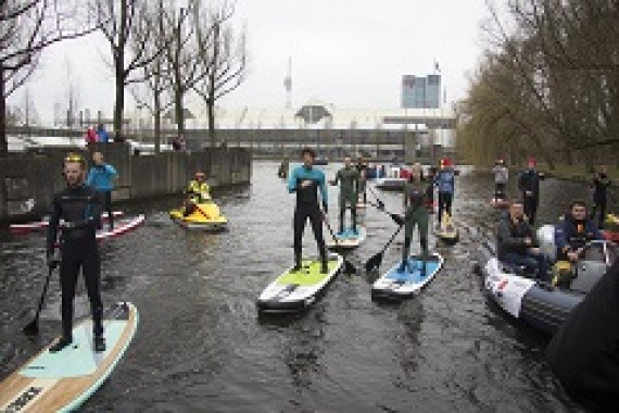 Team Jobe participates in HISWA SUP tour