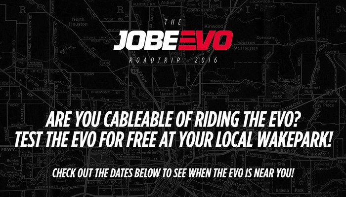The Jobe EVO road trip 2016