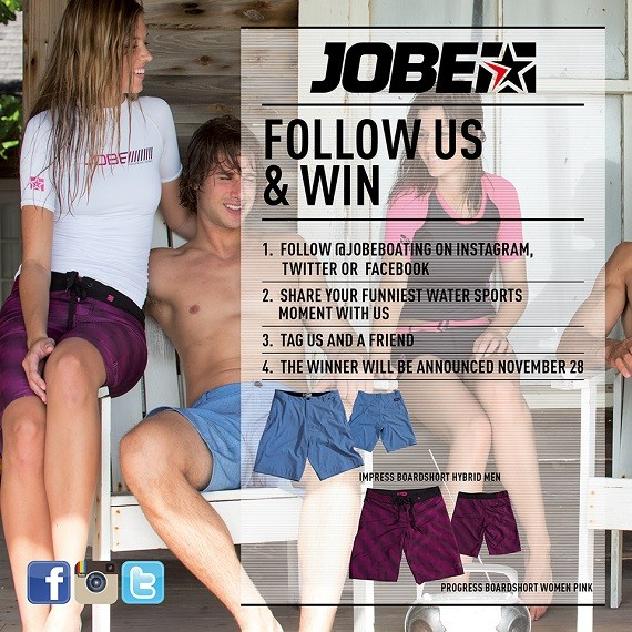 Win a pair of Jobe boardshorts!