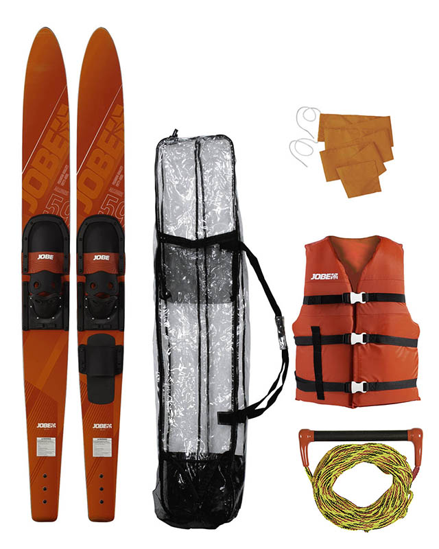 "Jobe Allegre 59"" Combo Waterskis Package Red"