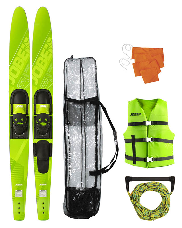 "Jobe Allegre 67"" Combo Waterskis Package Lime Green"