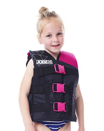 Jobe Nylon Life Jacket Child 30-50lbs. Pink