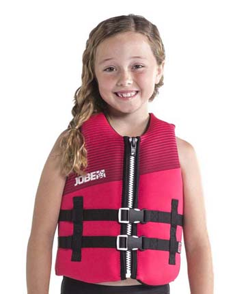 Jobe Neoprene Life Jacket Youth Hot Pink