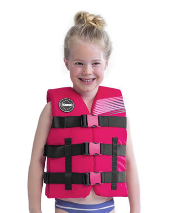 Jobe Nylon Life Jacket Youth Hot Pink