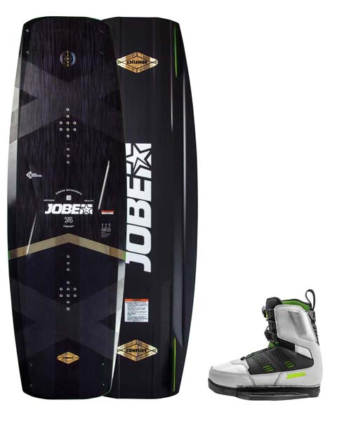 Jobe Conflict Wakeboard 138 & Nitro Bindings Cool Gray Set