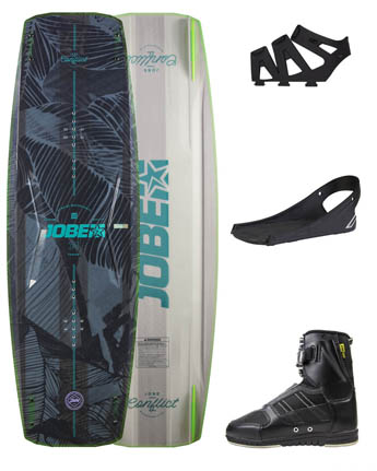 Jobe Conflict Wakeboard 127 & Chausses Drift Set