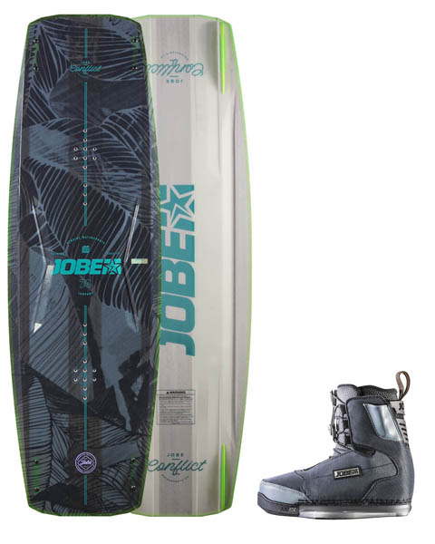 Jobe Conflict Wakeboard 134 & Chausses Charge Set