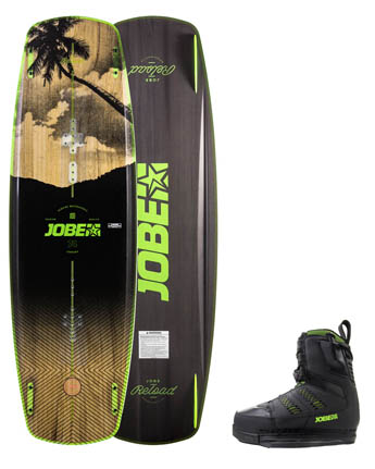 Jobe Reload Wakeboard 144 & Chausses Nitro Set Noir