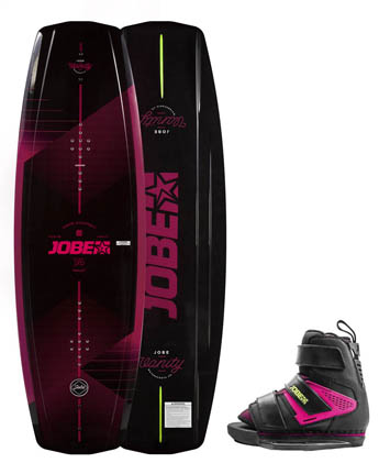 Jobe Vanity Wakeboard Women 131 & Host Pink Set