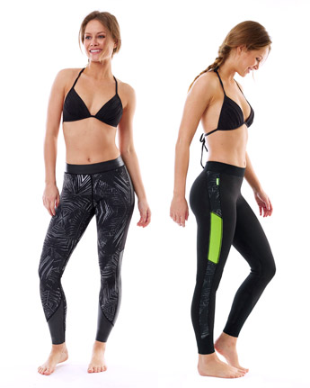 Jobe Verona Reversibel Legging 1.5mm Lime/Schwarz