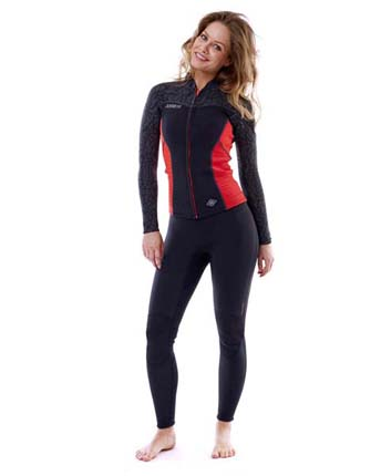 Jobe Porto Jacket 2mm Women Fury Red