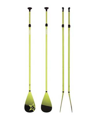 Jobe Fiberglass SUP Paddle 3 pcs Lime Green