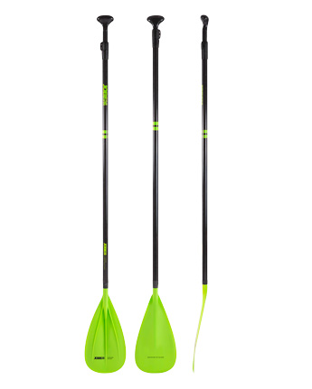 Jobe Fusion Stick SUP Peddel Lime Groen Driedelig