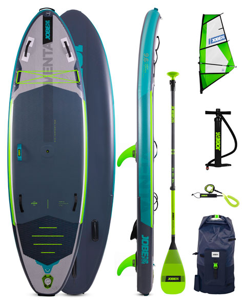 Jobe Venta 9.6 Inflatable Windsurf SUP Package + Venta Sup Sail