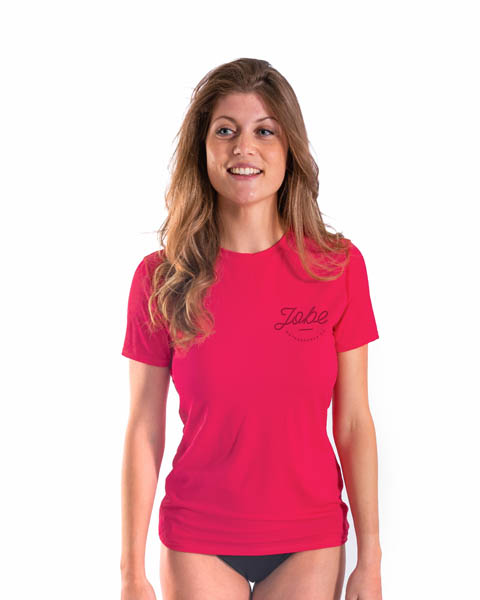 Jobe Rash Guard Loose Fit Women Hot Pink