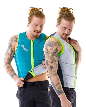 Jobe Reversible Impact Vest Men Teal/Silver