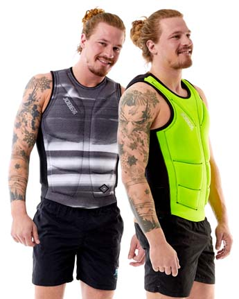 Chaleco Wakeboard Reversible Jobe Hombres Verde Lima/Gris