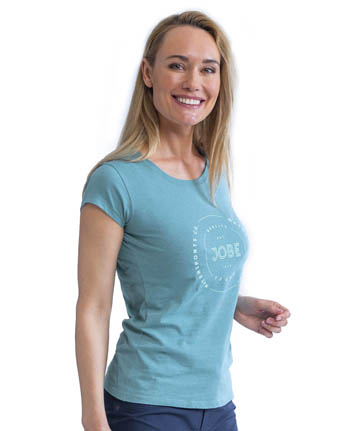 Jobe Casual T-Shirt Women Vintage Teal