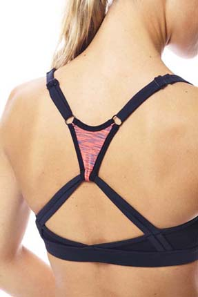 Jobe Discover Sports Bra Coral Red