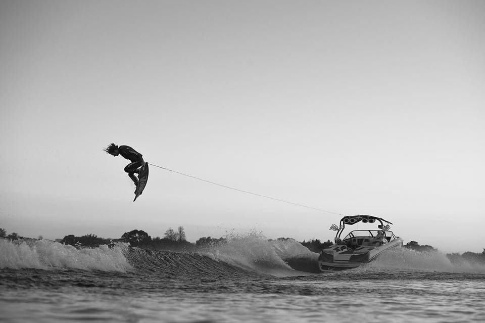 mpression of Marc Kroon's sick tricks on the water