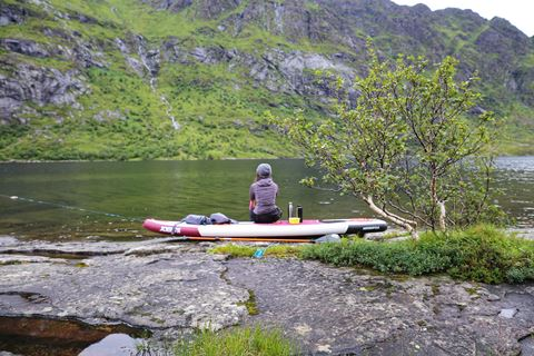 A paddle trip with destination Lofoten