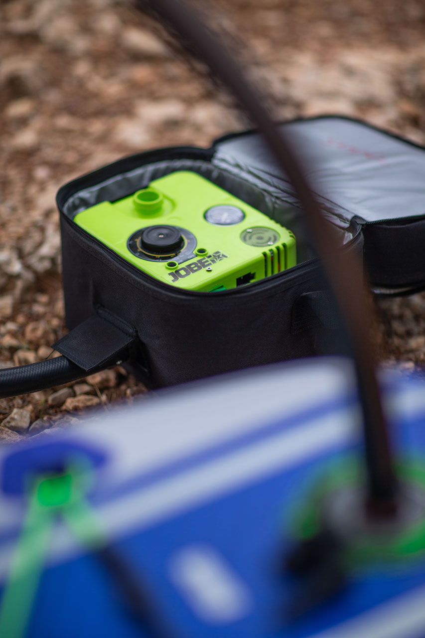 How to use the Jobe portable electric SUP pump