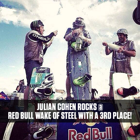 Julian Cohen 3rd place Red Bull Wake of Steel