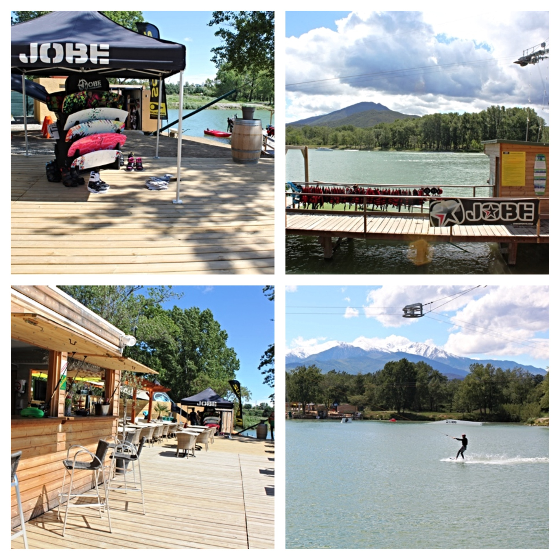 Jobe clinic test tour at French cable parks