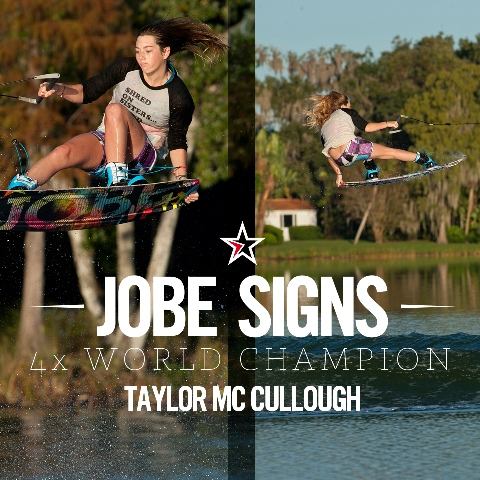 Jobe signs 4x World Champion Taylor McCullough