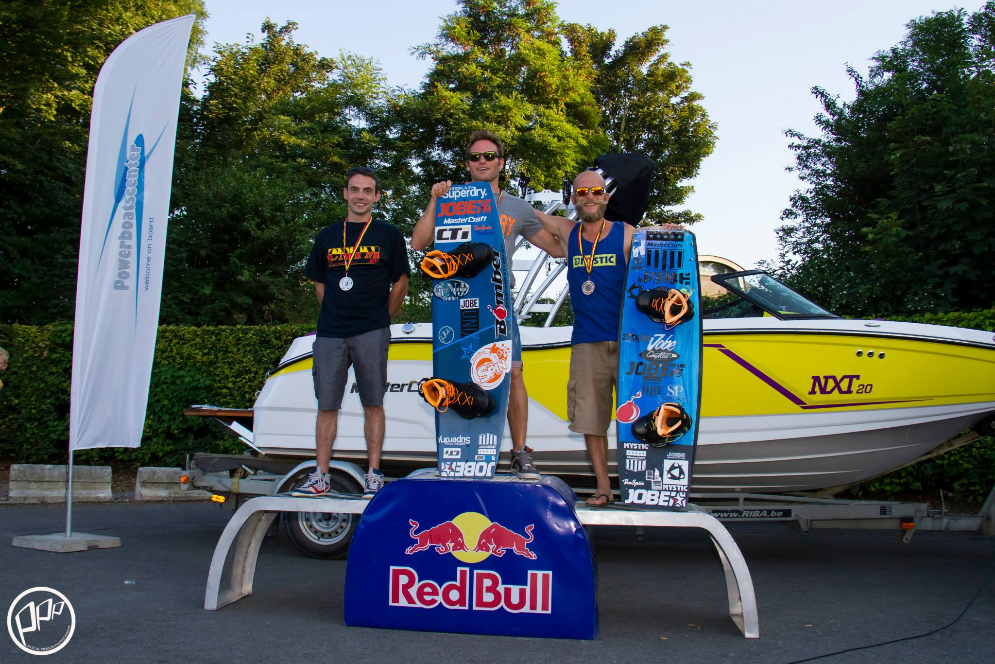 Jobe winners at the Masters Wakeboat (Belgium National Championship)