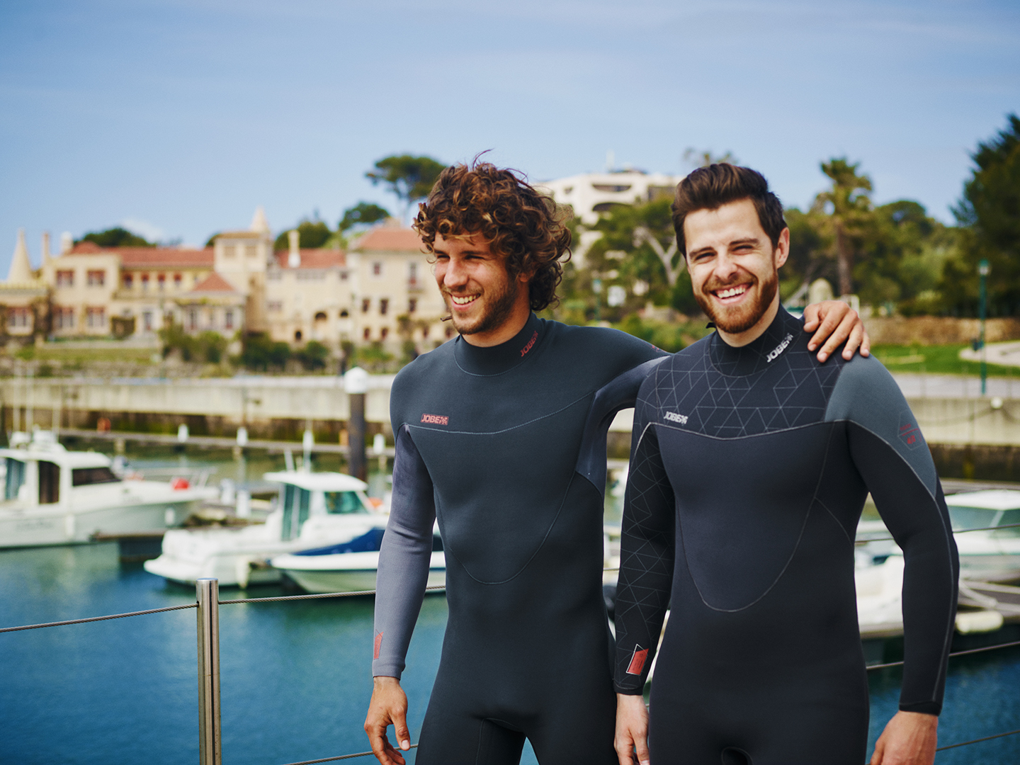 Men Wearing Jobe Wetsuits