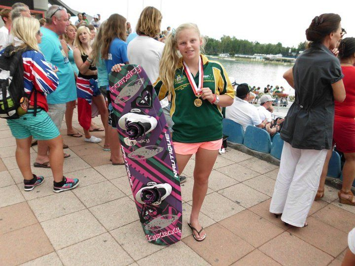 Jobe rider Chloe Mills @ the World Boat Wakeboard Championships
