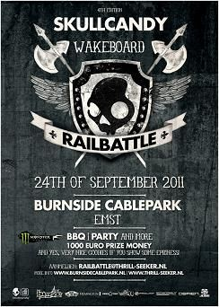 Jobe official sponsor of the Skullcandy Wakeboard Railbattle